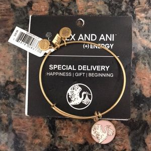 Alex and Ani gold tone Special Delivery bracelet